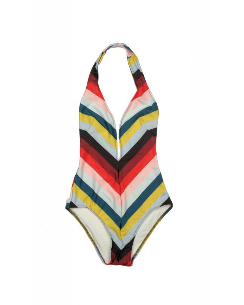 Solid & Striped Willow Diagonal One-Piece Swimsuit