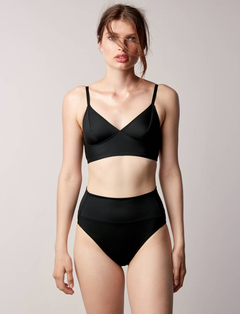 Swim Longline Bikini Top By Fortnight Lille Boutique