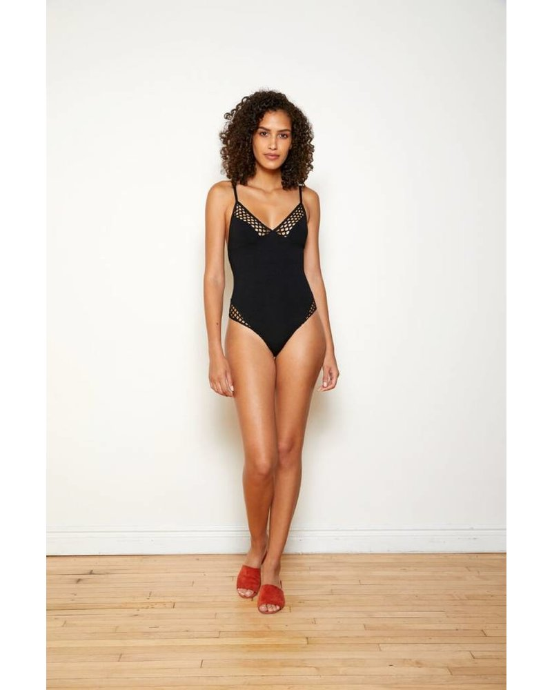 Only Hearts Nothing But Net Solid Bodysuit