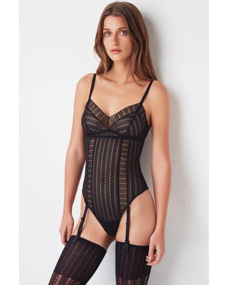 Else Lolita Bodysuit w/Removable Suspenders