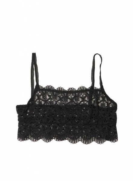 Only Hearts Recycled Lace Straight Across Bralette