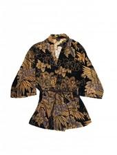 Only Hearts Crane Velvet Devore Kimono