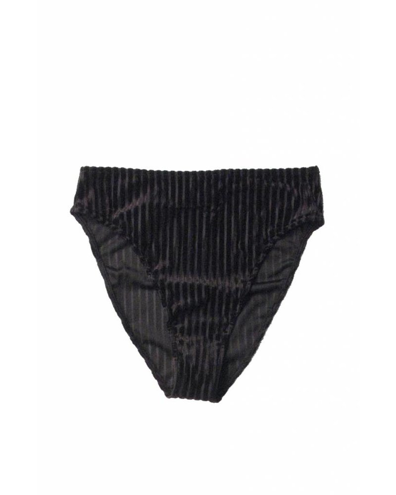 Only Hearts Velvet Rib High Cut Brief