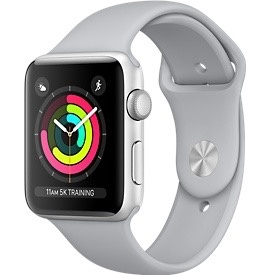 Apple Apple Watch Series 3 GPS - 38mm - Silver Aluminium Case with Fog Sport Band