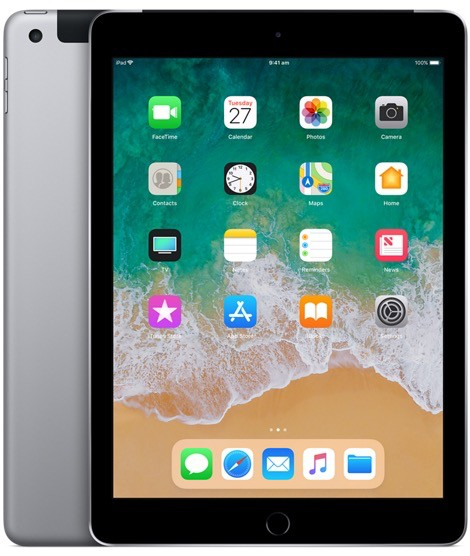 Apple iPad Wi-Fi + Cellular 32GB - Space Grey (6th Gen 2018)