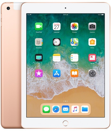 Apple iPad Wi-Fi + Cellular 128GB - Gold (6th Gen 2018)