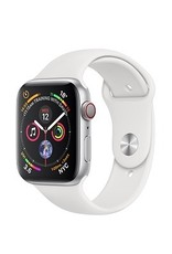 Apple Apple Watch Series 4 GPS + Cellular - 40MM - Silver Aluminium Case With White Sport Band