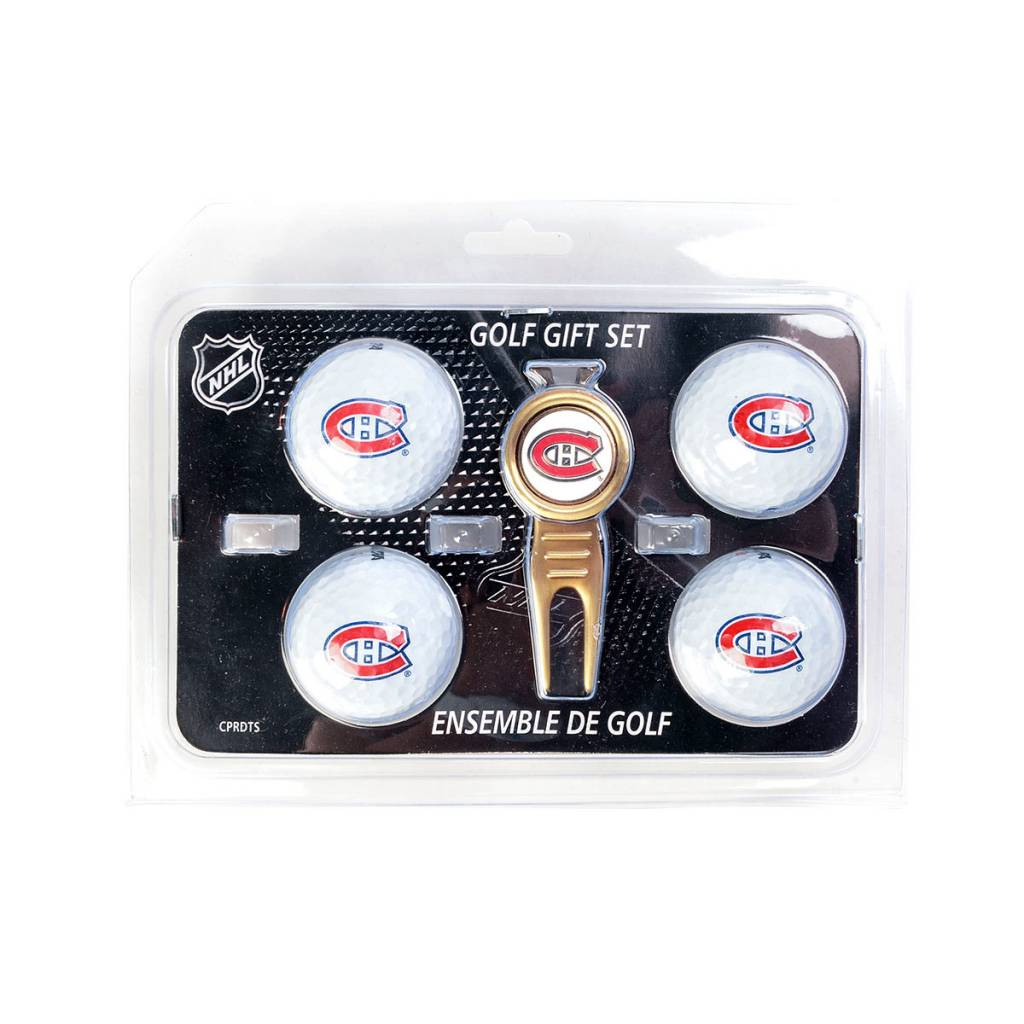 Caddypro Golf Products DIVOT TOOL AND CANADIENS BALLS SET