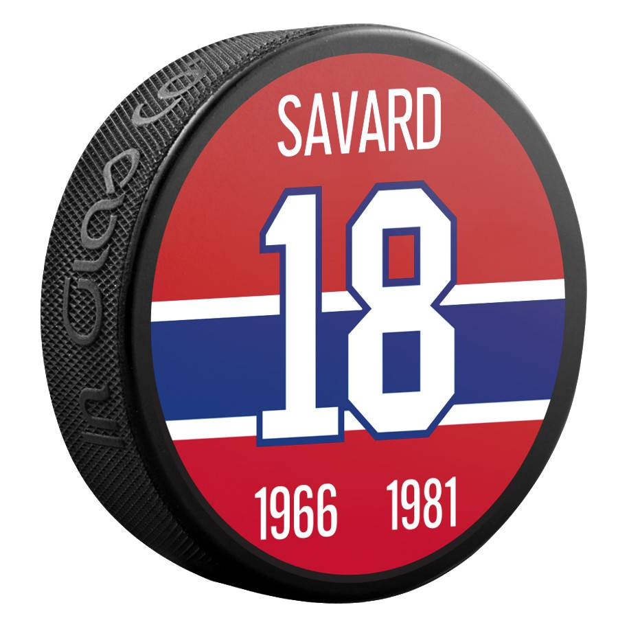 Sher-Wood #18 SAVARD PUCK
