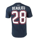 Reebok BEAULIEU #28 PLAYER T-SHIRT
