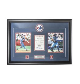 Club Du Hockey GARY CARTER MONTAGE SIGNED 11X16 FRAME