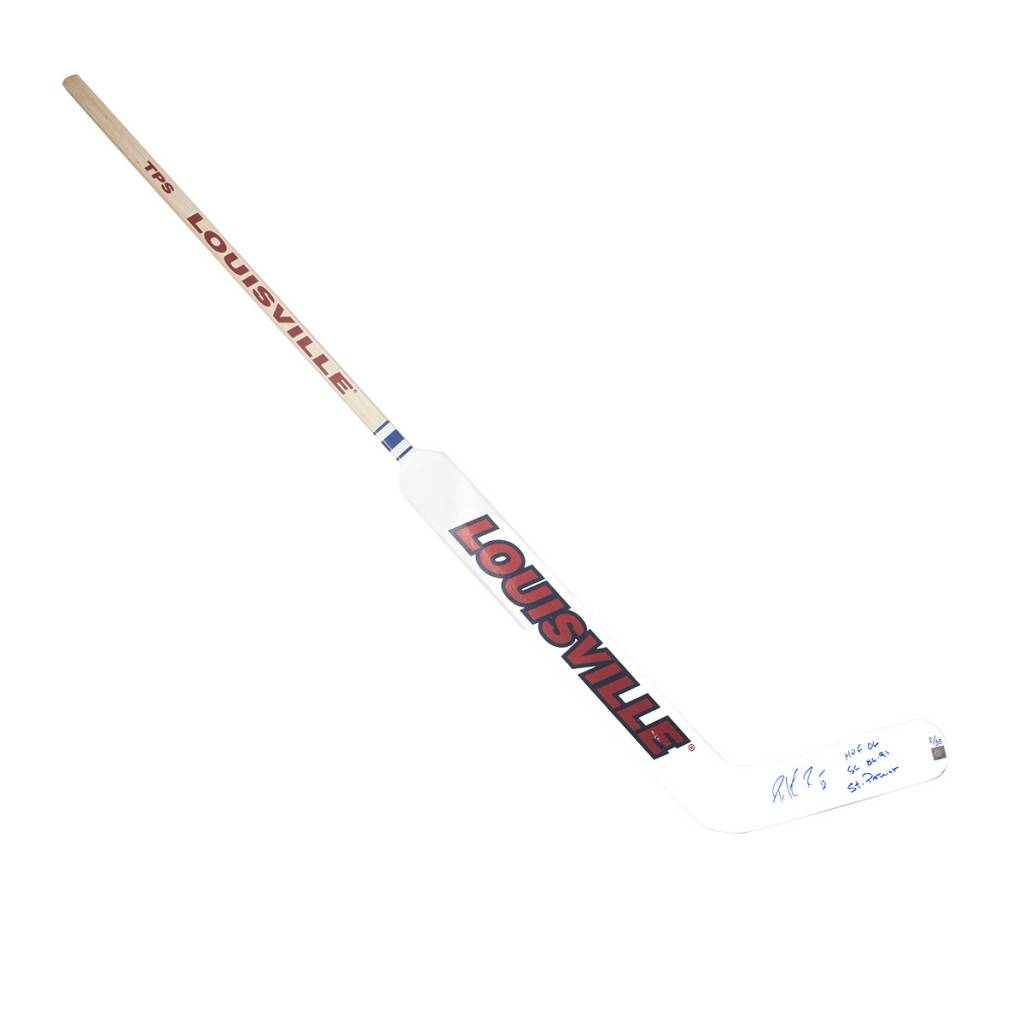 Club Du Hockey LOUISVILLE STICK SIGNED BY PATRICK ROY WITH 3 INSCRIPTIONS