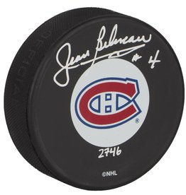 Club De Hockey SIGNED PUCK BY JEAN BÉLIVEAU