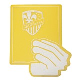 YELLOW AND RED CARD FOAM FINGER