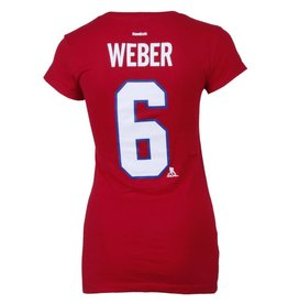 Reebok WOMEN'S WEBER #6 PLAYER T-SHIRT