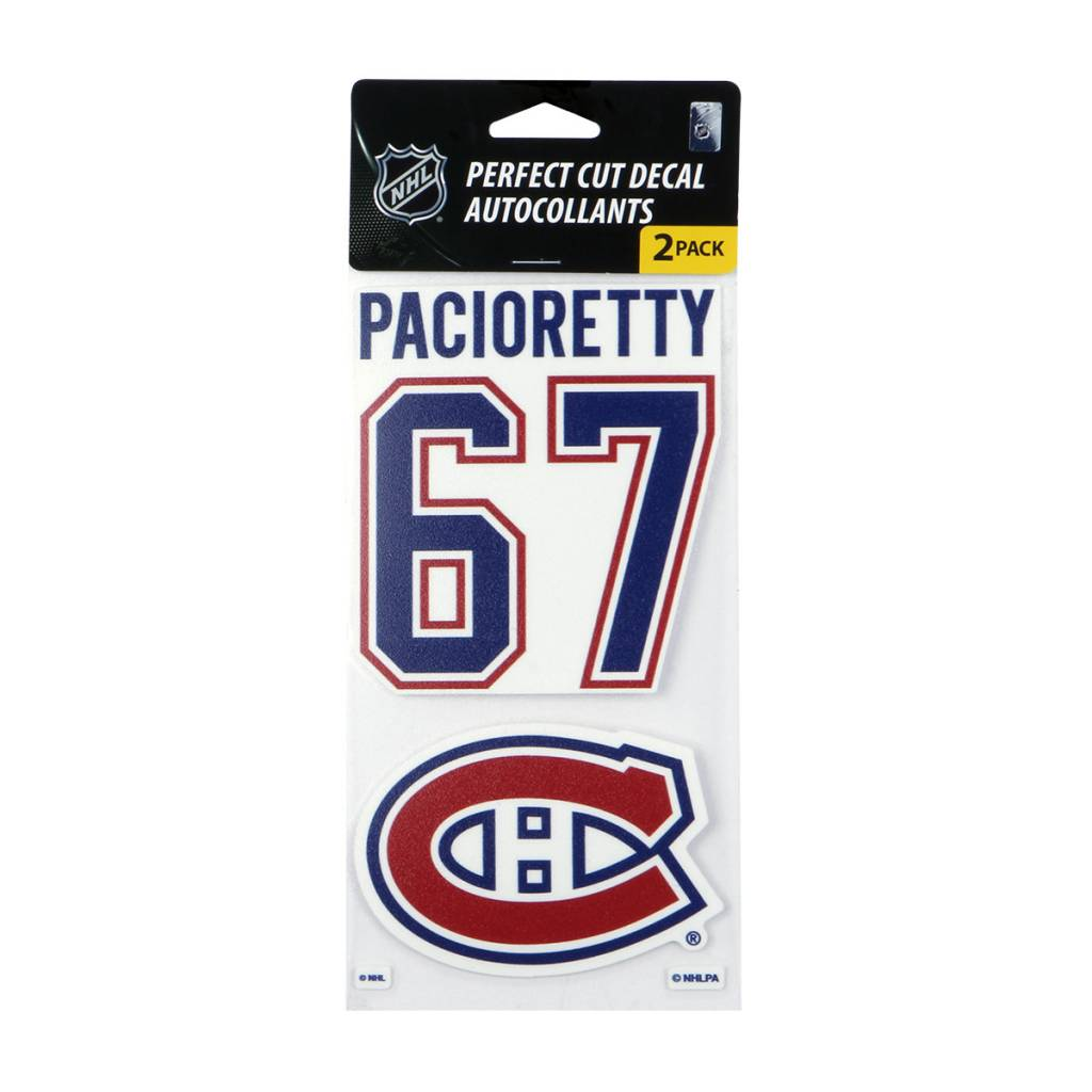 Wincraft #67 PACIORETTY DECAL