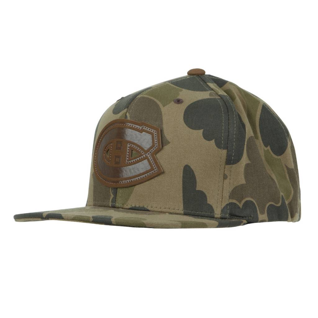 Mitchell & Ness CAMO LEATHER PATCH HAT