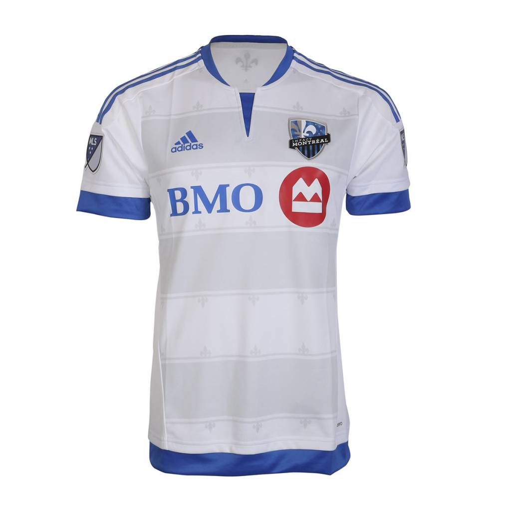 Adidas SECOND MAILLOT AUTHENTIQUE MANCHES COURTES 2015 BLANC IMPACT