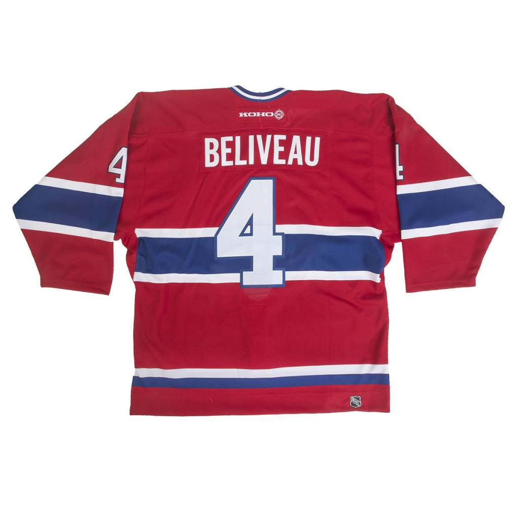 Club Du Hockey CHANDAIL SIGNÉ PAR JEAN BÉLIVEAU SUR LOGO