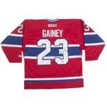 Club De Hockey CHANDAIL SIGNÉ PAR BOB GAINEY