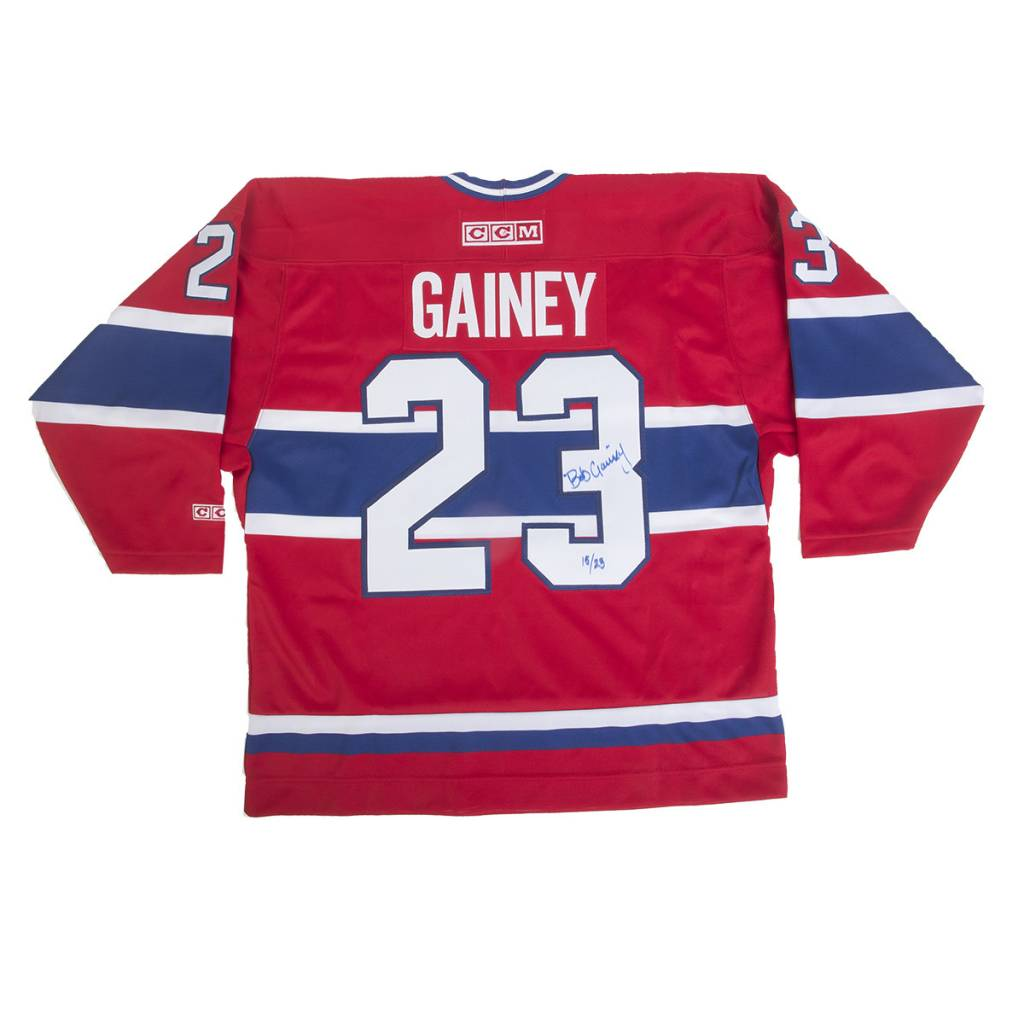 Club De Hockey JERSEY SIGNED BY BOB GAINEY