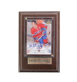 Cico Collectible HOCKEY CARD SIGNED BY HENRI RICHARD