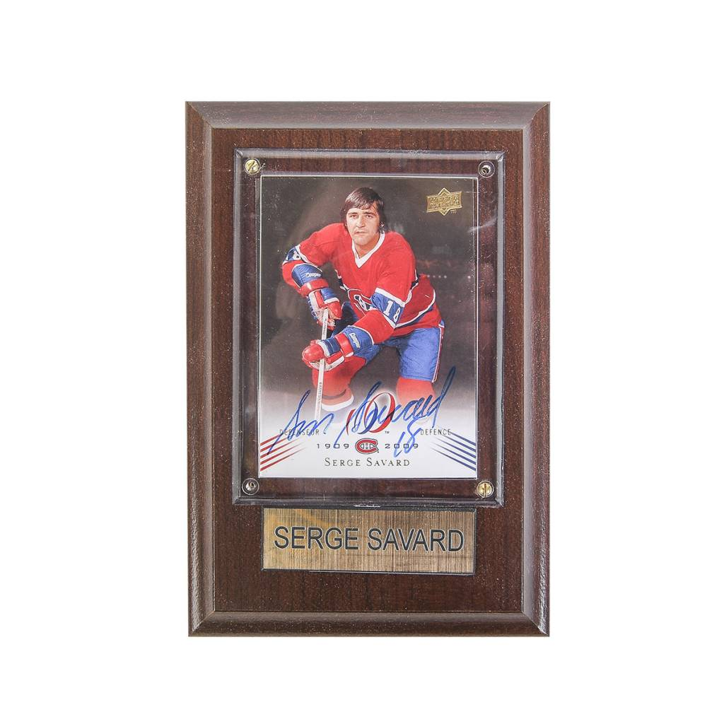 Cico Collectible HOCKEY CARD SIGNED BY SERGE SAVARD