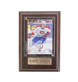 Cico Collectible HOCKEY CARD SIGNED BY CLAUDE LEMIEUX