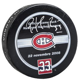 Club Du Hockey PUCK SIGNED BY PATRICK ROY