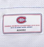 Club De Hockey CHANDAIL PORTÉ 2015-2016 #8 ZACK KASSIAN SÉRIE 1 À L'ÉTRANGER (MATCHS PRÉPARATOIRES)