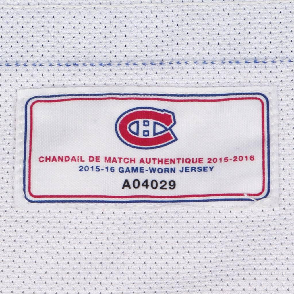 Club De Hockey CHANDAIL PORTÉ 2015-2016 #14 TOMAS PLEKANEC SÉRIE 2 À L'ÉTRANGER