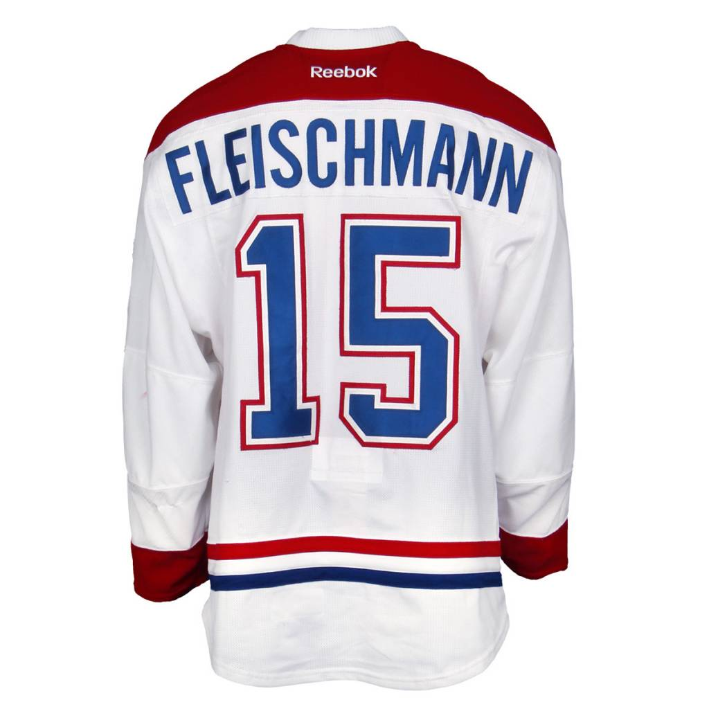 Club De Hockey 2015-2016 #15 THOMAS FLEISCHMANN AWAY SET 2 GAME-USED JERSEY
