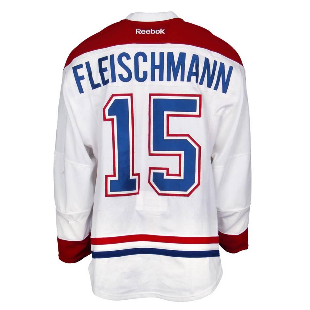 Club De Hockey CHANDAIL PORTÉ 2015-2016 #15 THOMAS FLEISCHMANN SÉRIE 2 À L'ÉTRANGER