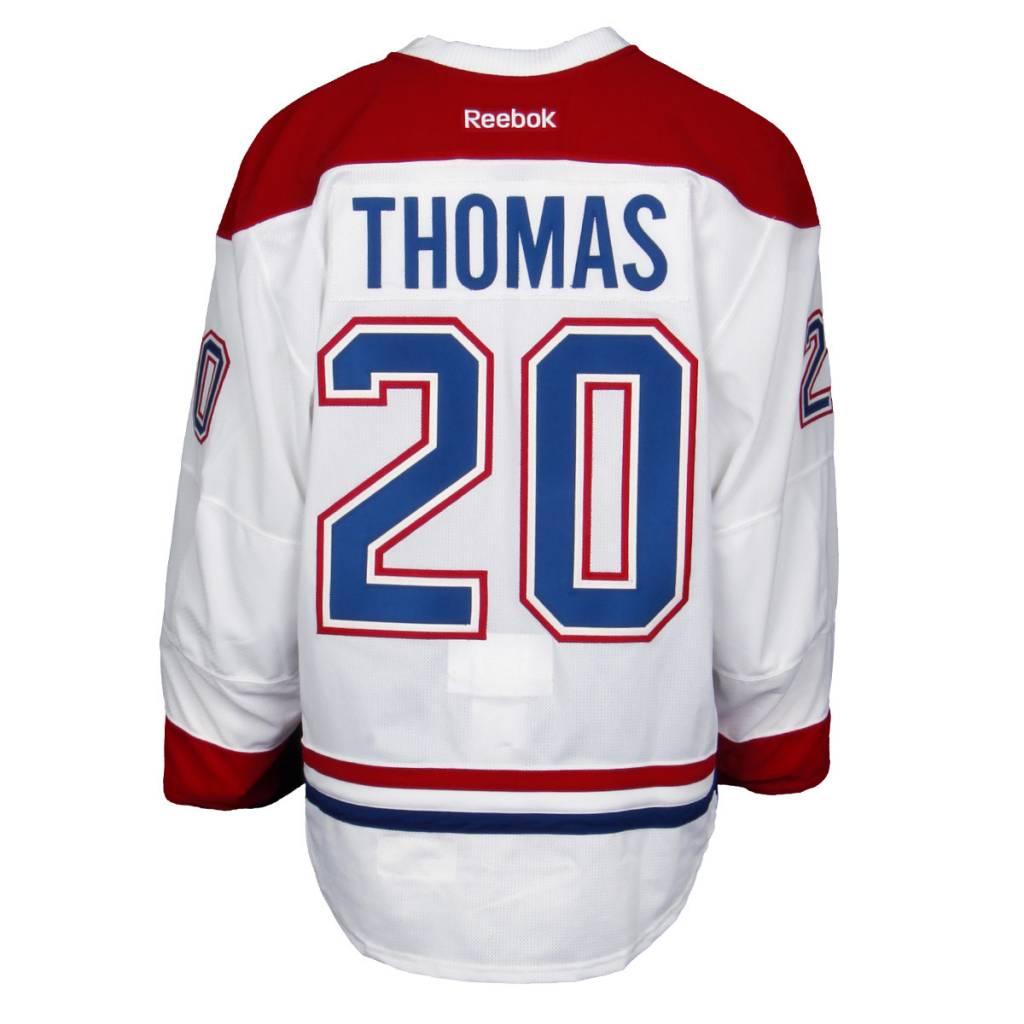Club De Hockey CHANDAIL PORTÉ 2015-2016 #20 CHRISTIAN THOMAS SÉRIE 2 À L'ÉTRANGER (CHANDAIL PRÉPARÉ)