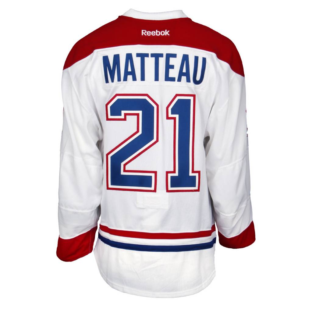 Club De Hockey 2015-2016 #21 STEFAN MATTEAU AWAY SET 1 GAME-USED JERSEY (GAME-ISSUED)