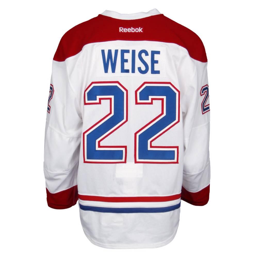 Club De Hockey CHANDAIL PORTÉ 2015-2016 #22 DALE WEISE SÉRIE 2 À L'ÉTRANGER