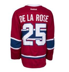 Club De Hockey 2015-2016 #25 JACOB DE LA ROSE HOME SET 1 GAME-USED JERSEY (PRE-SEASON)