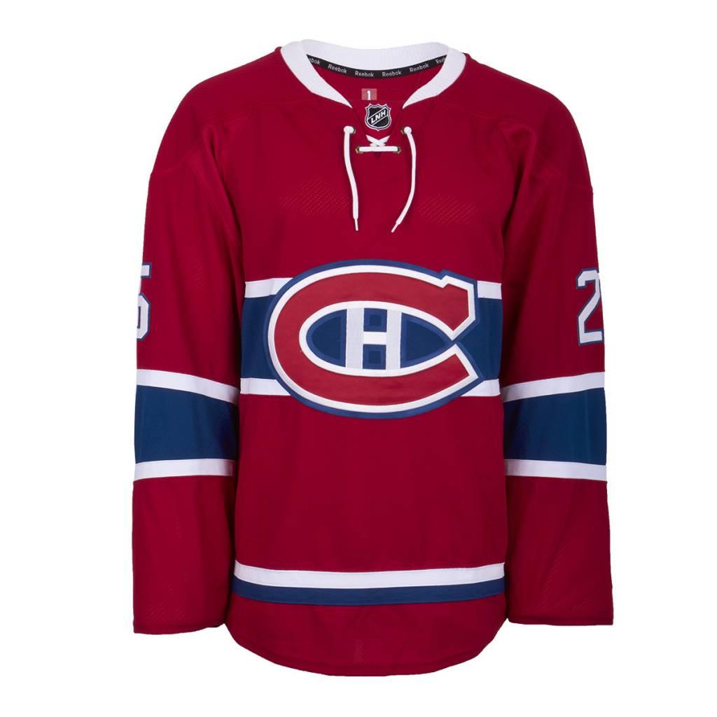 Club De Hockey CHANDAIL PORTÉ 2015-2016 #25 JACOB DE LA ROSE SÉRIE 1 À DOMICILE (MATCHS PRÉPARATOIRES)