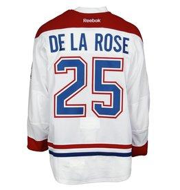 Club De Hockey CHANDAIL PORTÉ 2015-2016 #25 JACOB DE LA ROSE SÉRIE 1 À L'ÉTRANGER (CHANDAIL PRÉPARÉ)