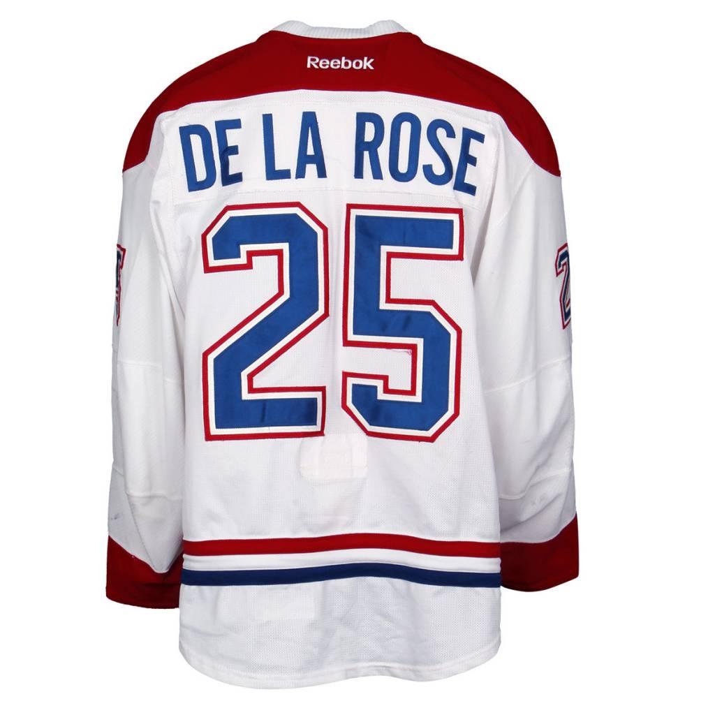 Club De Hockey CHANDAIL PORTÉ 2015-2016 #25 JACOB DE LA ROSE SÉRIE 2 À L'ÉTRANGER