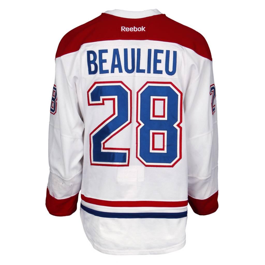 Club De Hockey 2015-2016 #28 NATHAN BEAULIEU AWAY SET 1 GAME-USED JERSEY