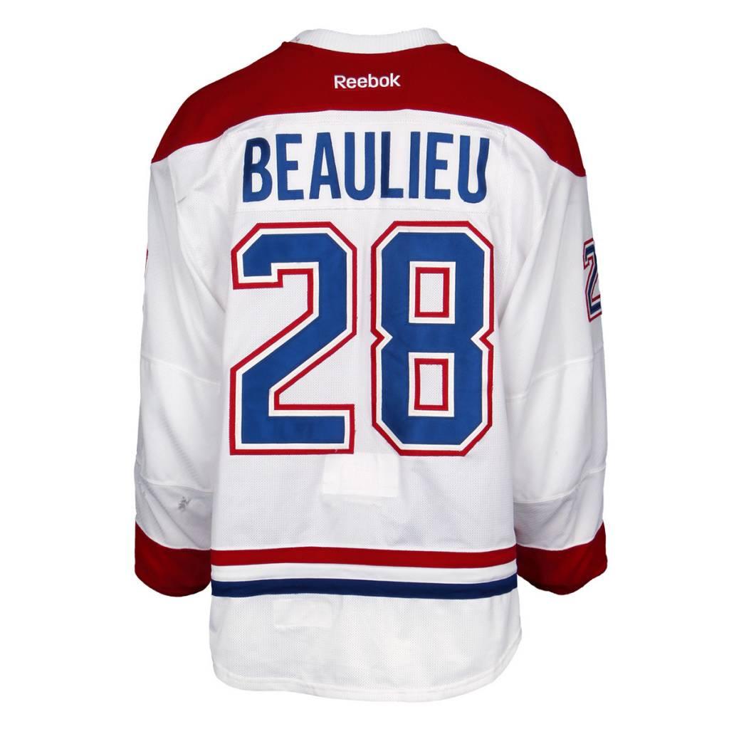 Club De Hockey CHANDAIL PORTÉ 2015-2016 #28 NATHAN BEAULIEU SÉRIE 2 À L'ÉTRANGER