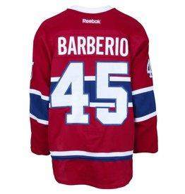 Club De Hockey CHANDAIL PORTÉ 2015-2016 #45 MARK BARBERIO SÉRIE 1 À DOMICILE (MATCHS PRÉPARATIORES)