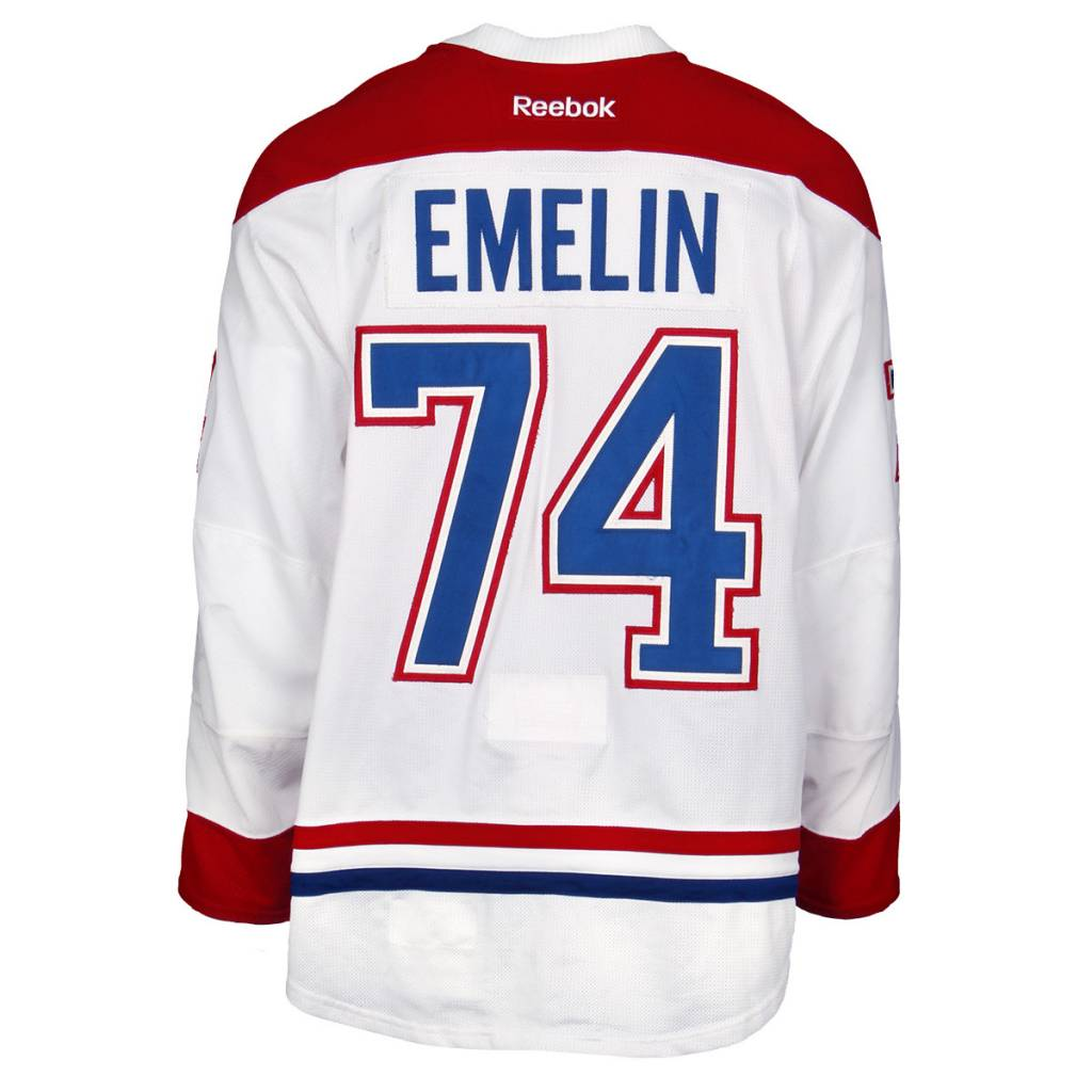 Club De Hockey CHANDAIL PORTÉ 2015-2016 #74 ALEXEI EMELIN SÉRIE 2 À L'ÉTRANGER