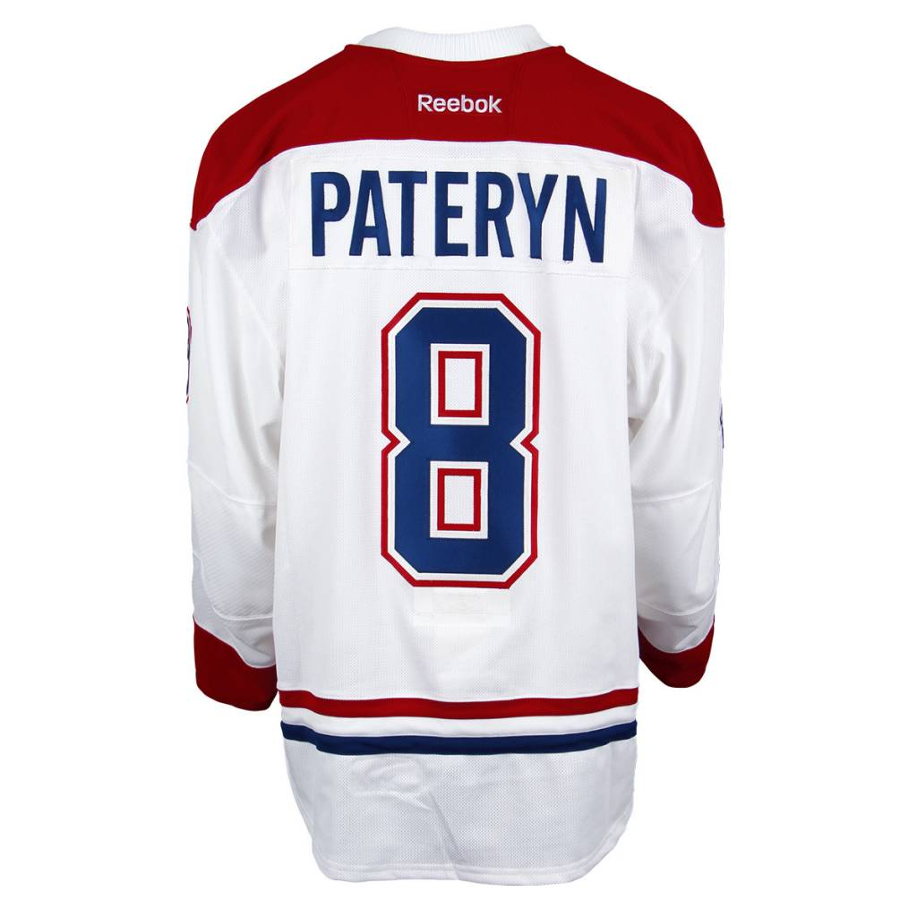 Club De Hockey 2016-2017 #8 GREG PATERYN AWAY SET 3 GAME-USED JERSEY (GAME-ISSUED)