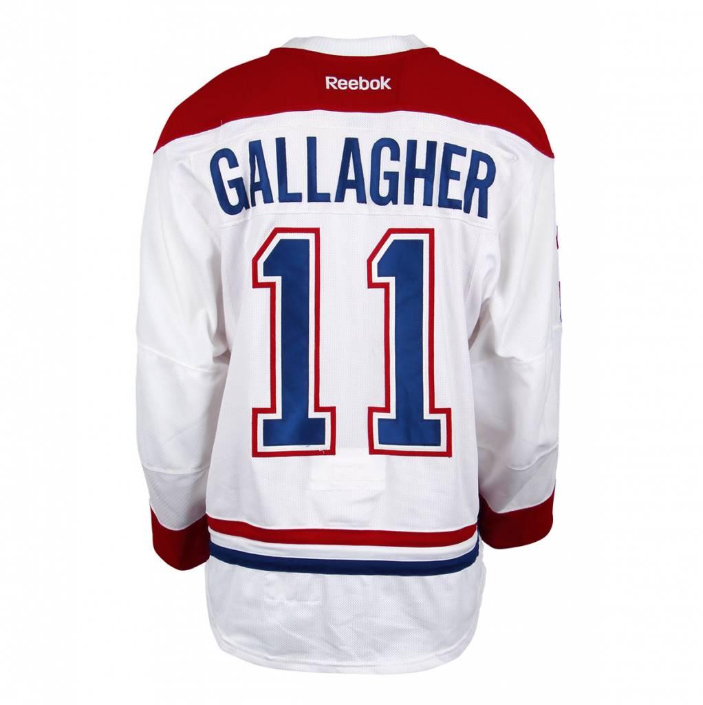 Club De Hockey CHANDAIL PORTÉ 2016-2017 #11 BRENDAN GALLAGHER SÉRIE 3 À L'ÉTRANGER
