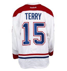 Club De Hockey CHANDAIL PORTÉ 2016-2017 #15 CHRIS TERRY SÉRIE 2 À L'ÉTRANGER