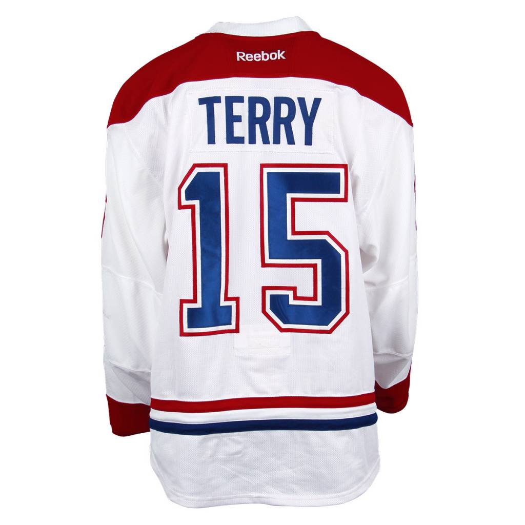 Club De Hockey CHANDAIL PORTÉ 2016-2017 #15 CHRIS TERRY SÉRIE 2 À L'ÉTRANGER