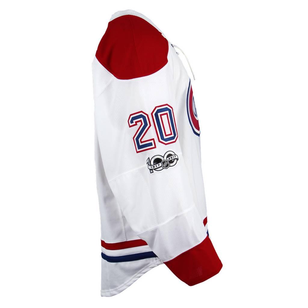 Club De Hockey CHANDAIL PORTÉ 2016-2017 #20 ZACH REDMOND SÉRIE 3 À L'ÉTRANGER (CHANDIAL PRÉPARÉ)