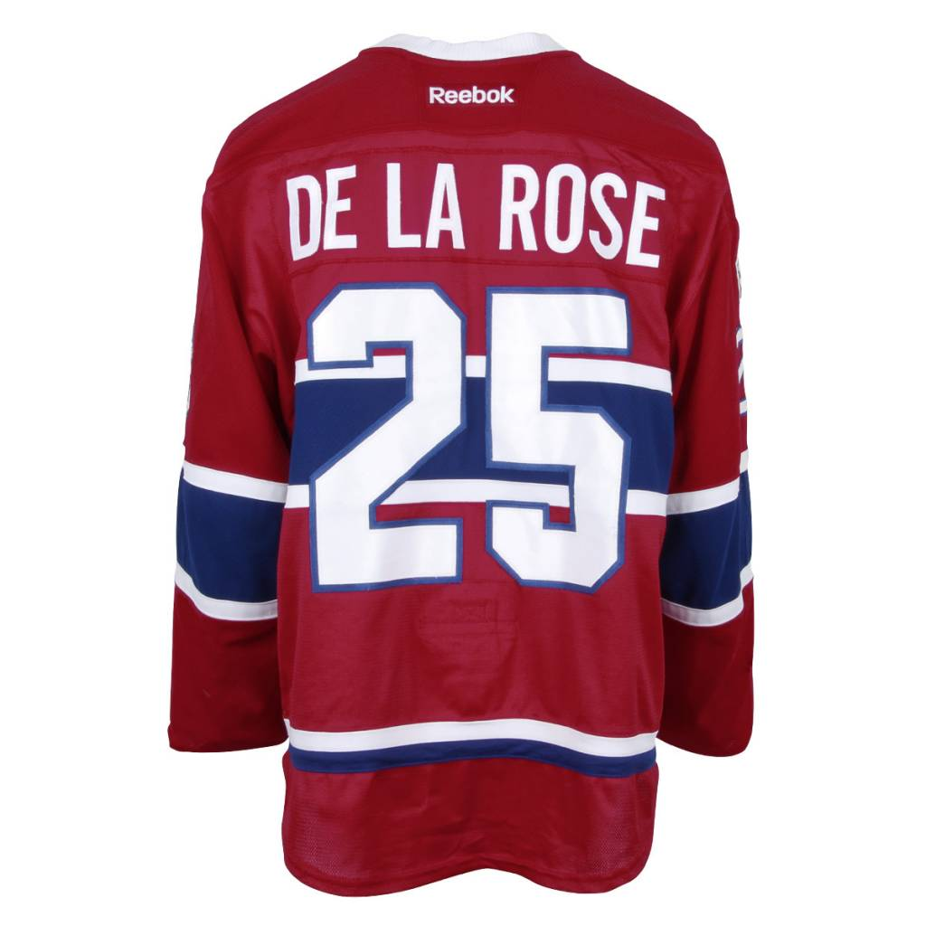 Club De Hockey 2016-2017 #25 JACOB DE LA ROSE HOME SET 1 GAME-USED JERSEY (PRE-SEASON)